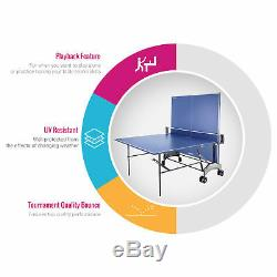 Kettler Outdoor Table Tennis Table Axos 1 with Outdoor Accessory Bundle