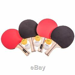 Lancaster 2 Piece Folding Table Tennis Table with 4 Rackets and 6 Ping Pong Balls