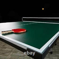Lancaster 4 Piece Official Size Table Tennis Ping Pong Game Table (Open Box)