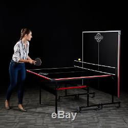 Lancaster Easy to Assemble Compact Portable Indoor 2 Piece Table Tennis Game