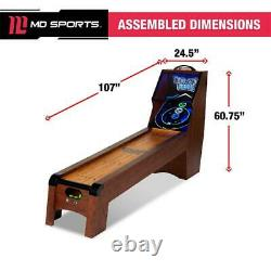 MD Sports 9 Ft. Roll And Score Table Arcade Game Includes 4 Skee-Ball LED Light