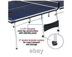 MD Sports Official Size 15mm 4 Piece Indoor Table Tennis, Blue Accessories Includ