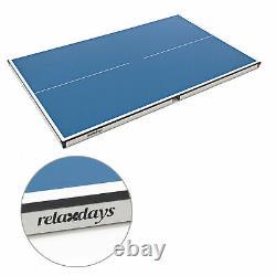 Midi Tischtennistisch Indoor, 75x75x125 Tischtennisplatte für Wohnung & Garten