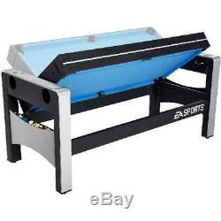 NEW Combo Swivel Game Table 72 ESPN 4-in-1 Hockey Pool Ping Pong + Accessories