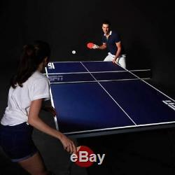 NEW ESPN Official Size Ping Pong Table Tennis Table Metal 4 Piece Indoor Folding