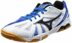 NEW MIZUNO Table Tennis Shoes 81GA1515 Wave Medal 5 White Black Blue US7-10.5