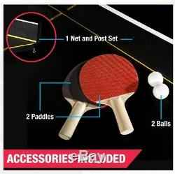 New Official Size Table Tennis Ping Pong Table Indoor With 2 Paddle And 2 Balls