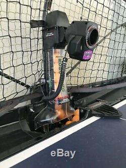 Newgy Robo-Pong 2050 Table Tennis/Ping Pong Robot with recycling net and paddles