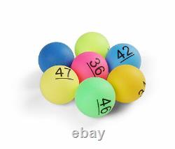 Numbered Ping Pong x150 Table Tennis Balls 40mm Tombola Lottery Numbers 1 to 150