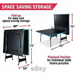 Official Size Indoor Tennis Ping Pong Foldaway Table 2Paddles And Balls Included