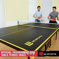 Official Size Indoor Tennis Ping Pong Table 2 Paddles and Balls Included NEW