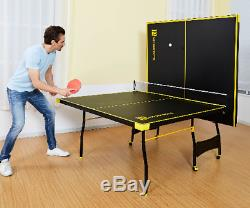 Official Size Outdoor/ Indoor Tennis Ping Pong Table 2 Paddle and Balls Included
