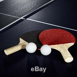 Official Size Outdoor Indoor Tennis Ping Pong Table 2 Paddles And Balls Included