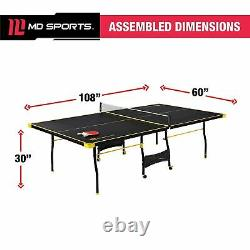 Official Size Ping Pong Table Outdoor Indoor Sport Gameplay Tennis 2 Paddle Ball