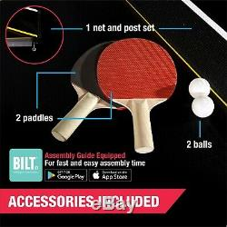 Official Size Professional Tennis Ping Pong Table 2 Paddles and Balls Included