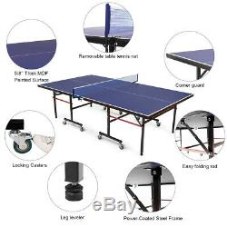 Official Size Table Tennis Foldable Ping Pong Table Indoor Outdoor Home Sport