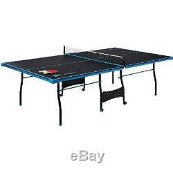 Official Size Table Tennis Ping Pong Table Foldable Rolling with Paddle And Balls