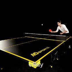 Official Size Table Tennis Table with Paddle and Indoor Outdoor Balls Game Set