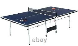 Official Size Tennis Ping Pong Indoor, Paddles and Balls Included Foldable Table