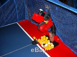 Oukei ping pong table tennis robot V1. Ball machine, with net! Ship worldwide