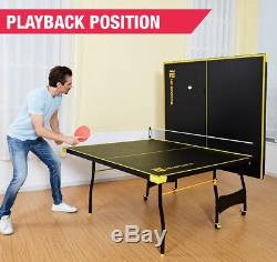 Outdoor Ping Pong Table Folding Tennis Table Indoor Set Full Official Size NEW