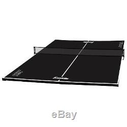 Ping Pong Pool Table Top Table Tennis Conversion Top Game Play Black Portable