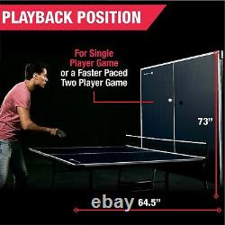 Ping Pong Table Official Size 15mm Indoor Foldable Table Tennis with Accessories