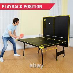 Ping Pong Table Tennis Folding Huge Size Game Set Indoor Outdoor Sport Full Set