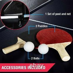 Ping Pong Table Tennis Folding Huge Size Game Set Indoor Sport Full Set
