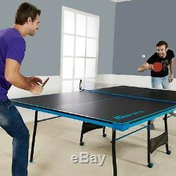 Ping Pong Table Tennis Folding Tournament Size Game Room Indoor Outdoor Sport