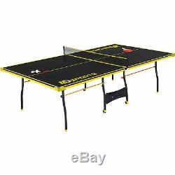 Ping Pong Table Tennis Folding Tournament Size Game Set Indoor Sport
