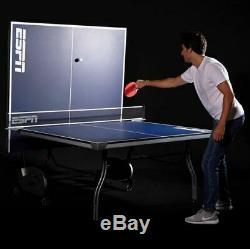 Ping Pong Table Tennis Full Standard Tournament Size Folding Portable Net Post