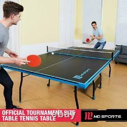 Ping Pong Table Tennis Official Size Indoor Outdoor 2 Paddles & New Balls