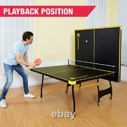 Ping Pong Tennis Table, Official Size, Indoor, Game 2 Paddles & Balls Included