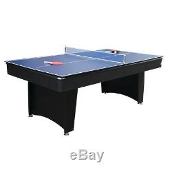 Pool Table Game Room 7 Foot Billiards Table Tennis Top Complete Set Included