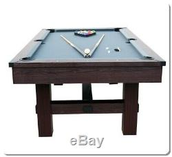 Pool Table Tennis 7.5' Arcade Game Room Billiard Ping Pong Combo Accessory Kit