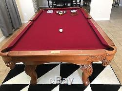 Pool Table (total Package) 8 X 4 Slate Billiard Table With Table Tennis Topper