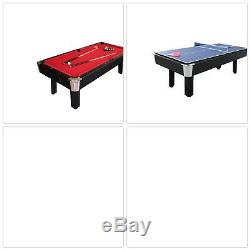 Red Billiard Table 96 Ping Pong Table Man Cave Rec Room Pool Table Table Tennis