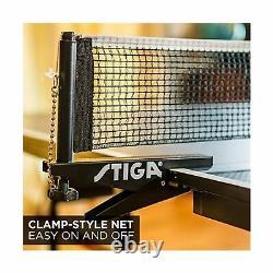 STIGA Tennis Table Lightweight Lockable Caster Removable Net Indoor Games T8580W