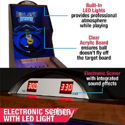 Skee Ball Game 9' Roll & Score, LED Lights, Arcade Sound FX, Skeeball MD Sports