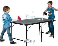 Slazenger Mini 5 Foot Table Tennis Ping Pong Folding with Net Bats Balls Indoor