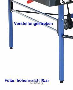 Sponeta 4-73 eTischtennisplatte outdoor Blau wetterfest Tischtennistisch m Netz