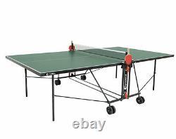 Sponeta S 1-42 e grün im Set outdoor Tischtennisplatte mit Hülle u Schlägerset