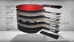 Stiga Royal 5-Star Table Tennis Pro Carbon Ping Pong Bat, Black/Red