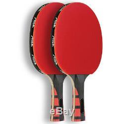 Stiga Set of 2 Evolution Premium Ping Pong Table Tennis Paddles