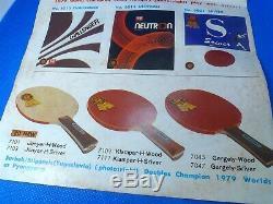 Stipancic H Kiso Hiniki Table Tennis Paddle cir. 1970's No Reserve