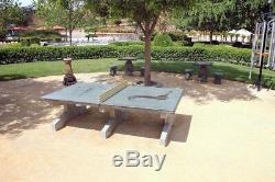 Stone Age Outdoor Table Tennis Table Uptown Concrete Permanent 2500lb Withshipping