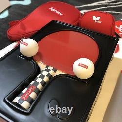 Supreme Butterfly Table Tennis Racket Set Fw19 Bandana Box Logo Hoodie Beanie
