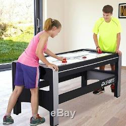 Swivel Combo Game Table 4 Games Hockey Billiards Table Tennis Basketball 72 Inch