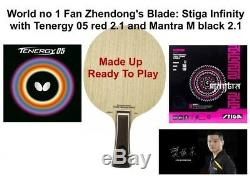 Table Tennis Bat World 1 Fan Zhendong Blade Stiga Infinity +Tenergy 05 +Mantra